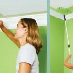 Как правильно покрасить потолок ?