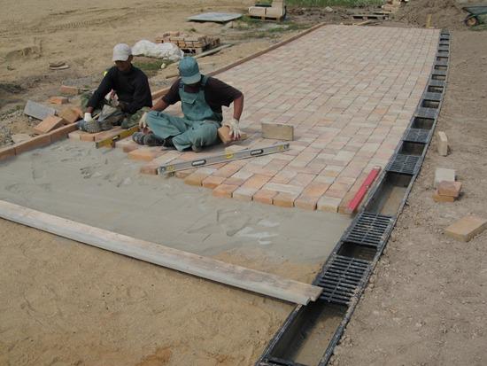 Тротуарная плитка на пескобетон