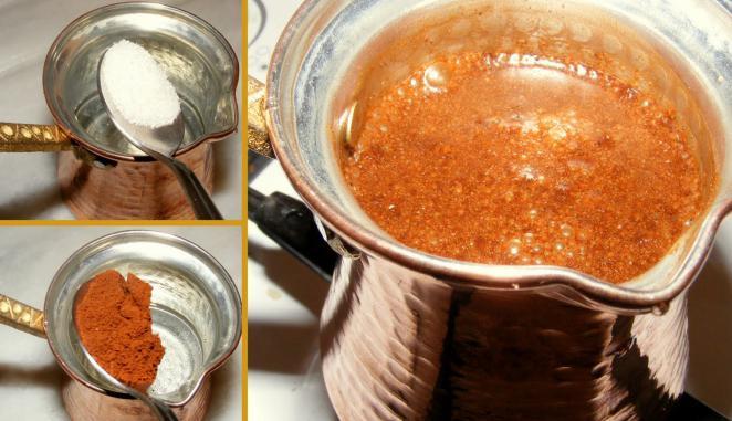 Как сварить натуральный кофе в турке