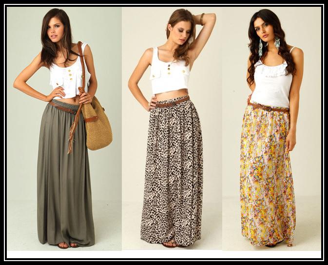 Как правильно носить длинную юбку?