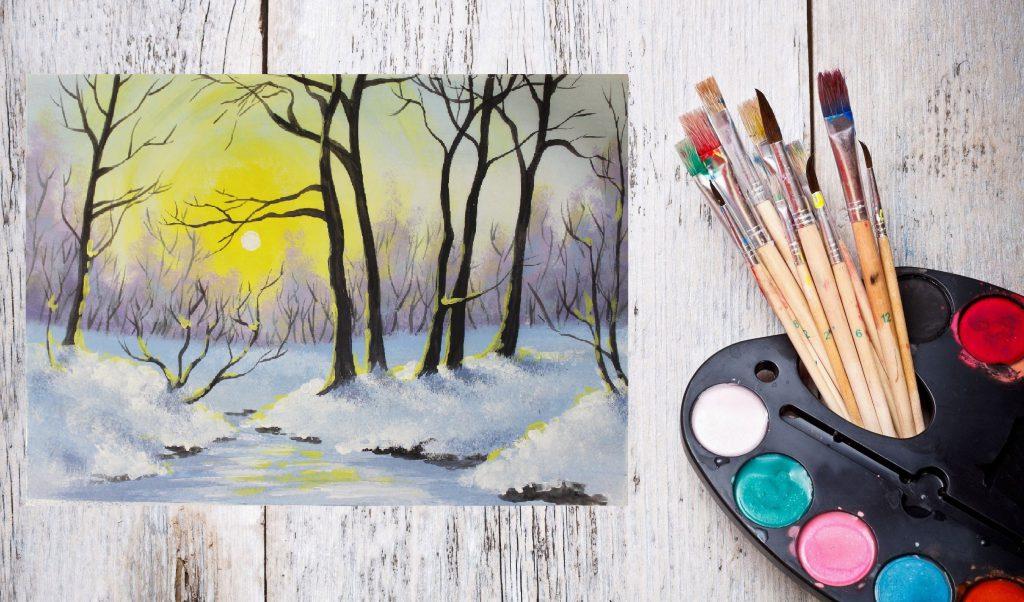 Как правильно рисовать акриловыми красками